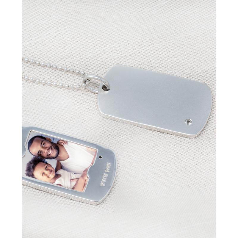 With You Henry Dog Tag Necklace