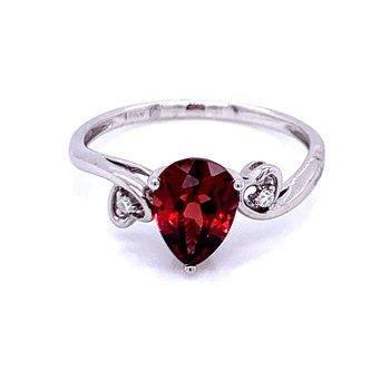 Sweet Simplicity Garnet Ring