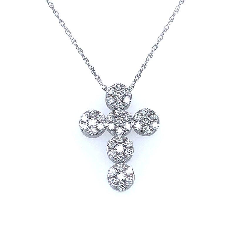 Bryan Beauties Round Stepping Stones Diamond Cross