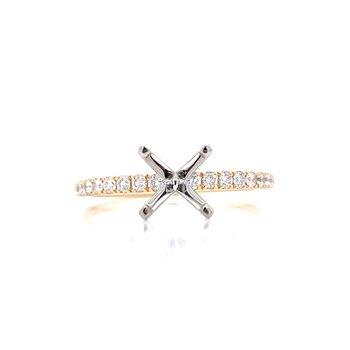 Prestigious Diamond Semi-mount to match 1/4ctw Band-14ky