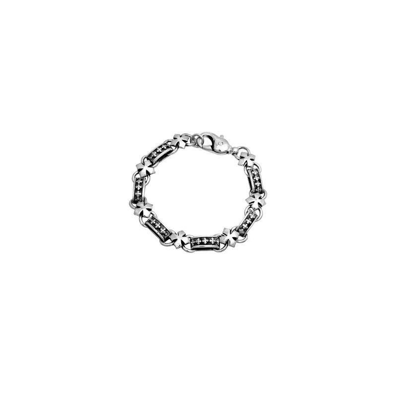 King Baby Men's Cross Link Bracelet