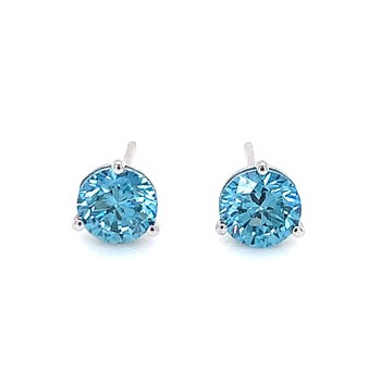 Evolv-Blue Diamond Earrings 1/2ctw