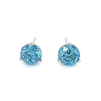 Evolv-Blue Diamond Earrings 1/2ctw