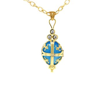 Biltmore Chateau Locket Pendant with .30ctw of Diamonds and an Array of Gemstones