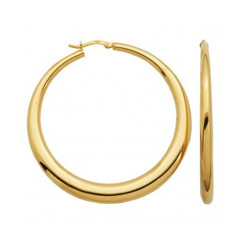 Sterling Silver Electroform Graduated Hoops-Yellow Finish
