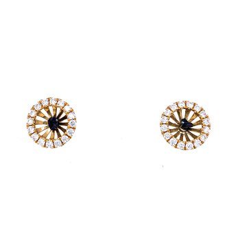 18k Yellow gold earring jackets