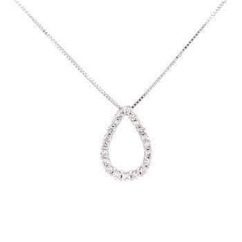 Tear Drop Shaped Diamond Pendant