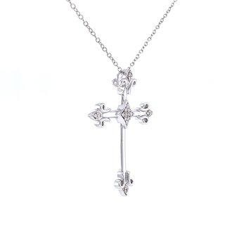 Elegant Cross Pendant-Sterling Silver