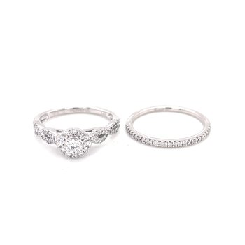 Bliss Bridal 1/2ctw Halo Set with Round center
