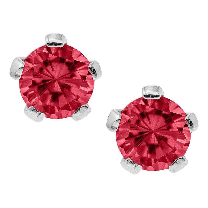 Marathon Jewelry Kiddie Kraft July Birthstone Earrings in Silver