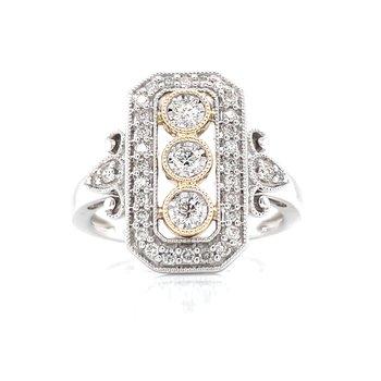 Vintage Style Three-Stone Ring