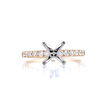 Prestigious Diamond Semi-mount to match 1/3ctw Band-14ky