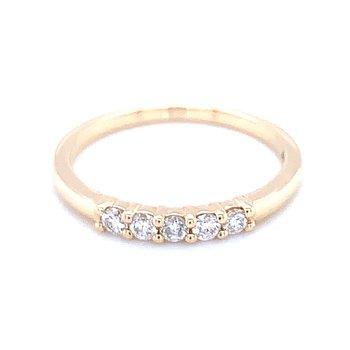5 Stone Diamond Band-1/4ctw