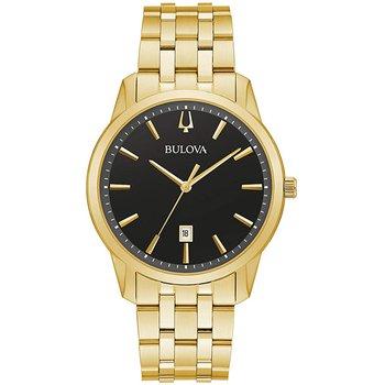Bulova Classic Mens Gold Tone Stainless Steel Bracelet Wrist Watch