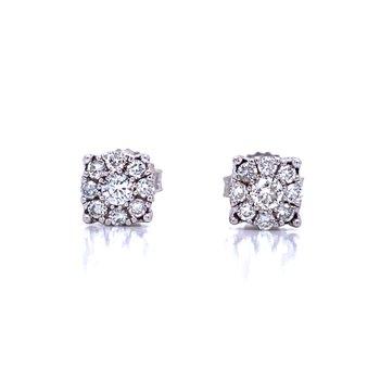 1/2ctw Diamond Cluster Studs-LG