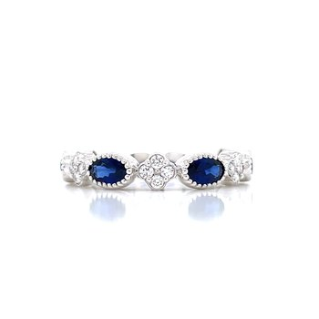 East-West Sapphire Stackable