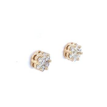 Flower Cluster Earring 3/4ctw 10ky