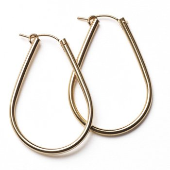 Gold Filled Teardrop Hoop - 30mm