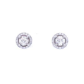 Tru-reflections Halo Diamond Studs 1/2ctw
