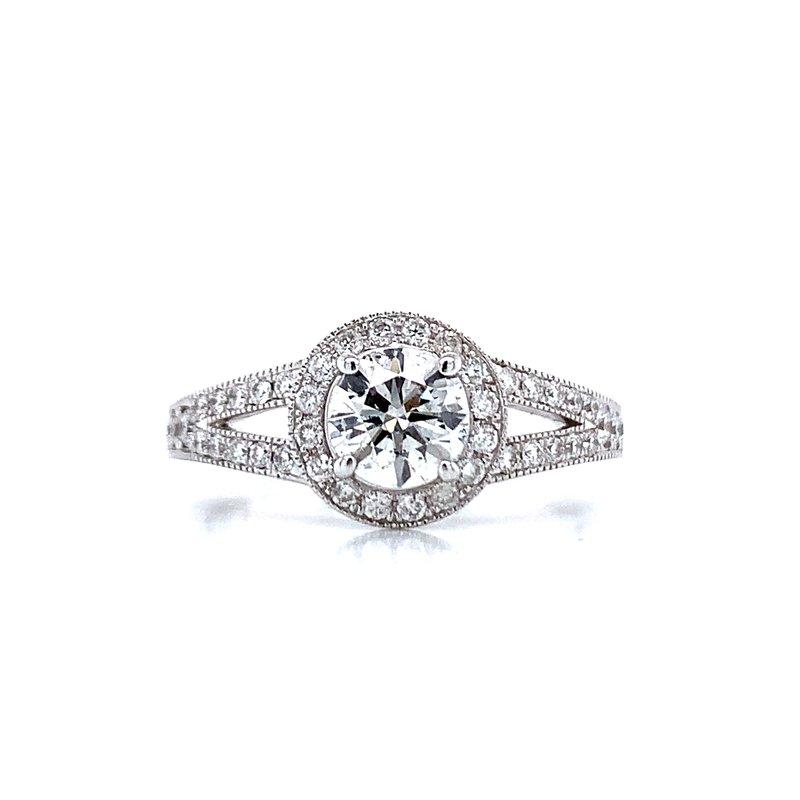 Bryan Beauties Split Shank Diamond Halo Engagement Ring