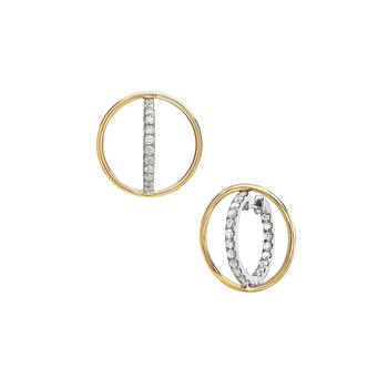 In & Out Diamond Earrings- Lab Grown