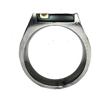 Titanium and Onyx Ring
