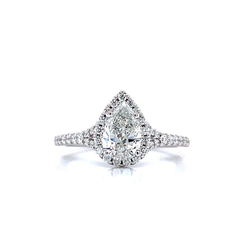 Romance Romance Pear Shaped Halo Engagement Ring