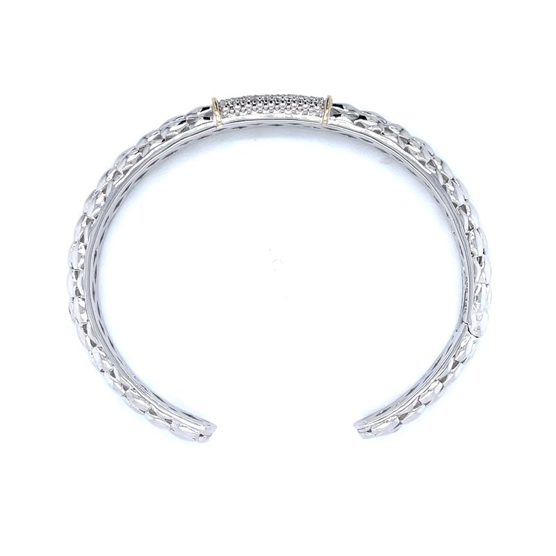 Piyaro Pave' Set Diamond Cuff  Bangle Bracelet