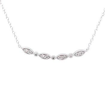 Lovely Contoured Diamond Necklace-10kw