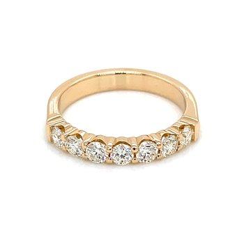 7 Diamond Shared Prong Band 3/4ctw 14ky