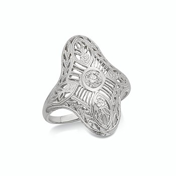 Vintage Filigree Dinner Ring