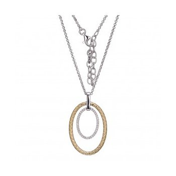 Simply Oval Two-tone Pendant