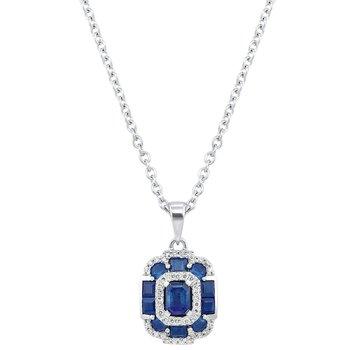 Radiance in Sapphire Pendant