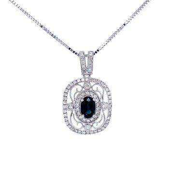 Stunning Sapphire Pendant