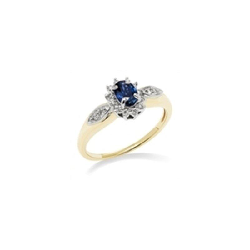 Bryan Beauties Classic Sapphire with Diamond ring