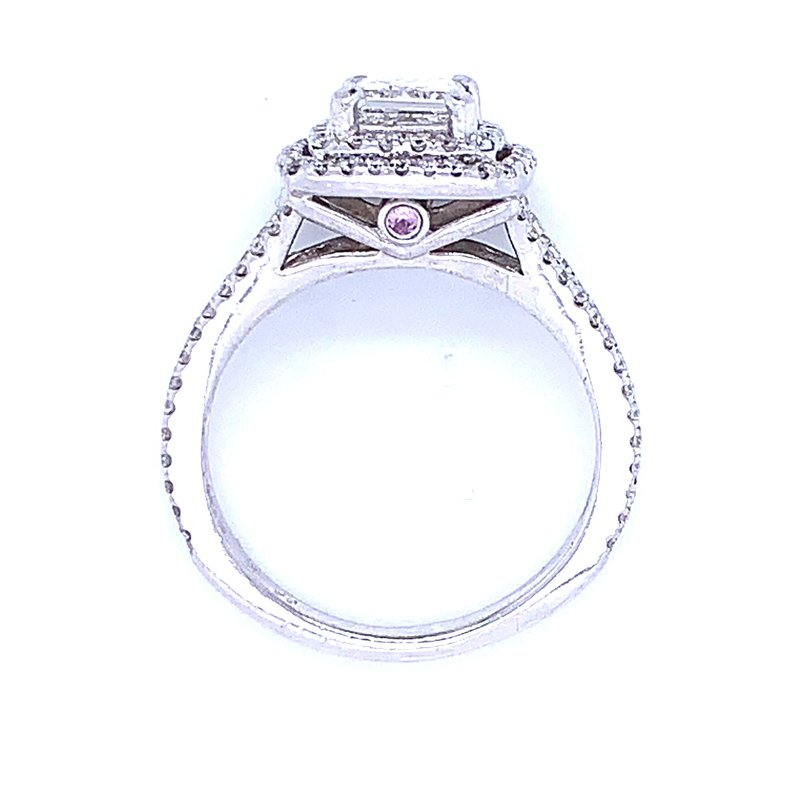 Previously Loved Double Halo Engagement Ring