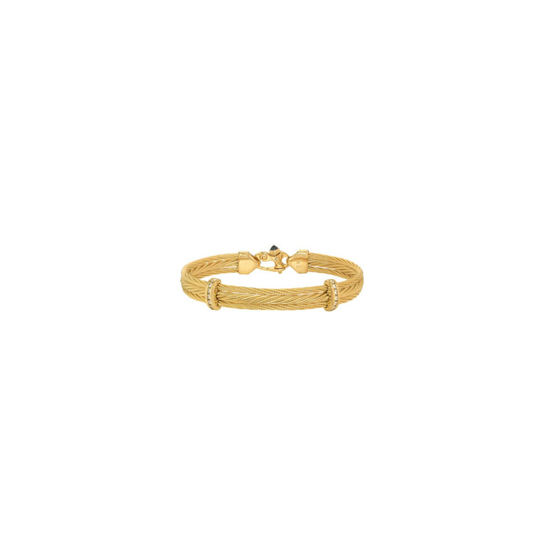 The Touch Triple 14K yellow gold cable bracelet