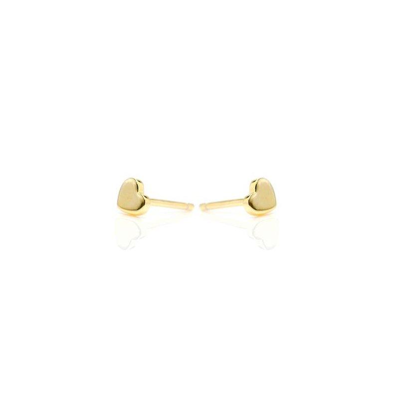 "eLiasz and eLLa ""Little Hearts"" Gold Tone Earrings"