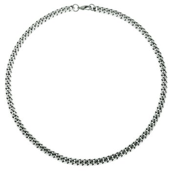 Brushed Grey Curb Chain