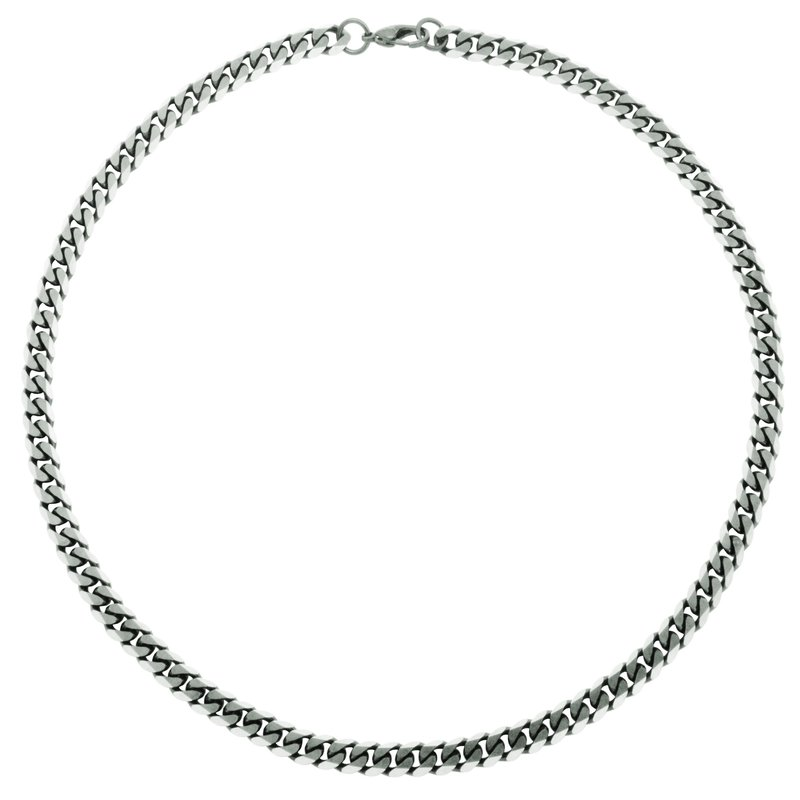 STEELX Brushed Grey Curb Chain