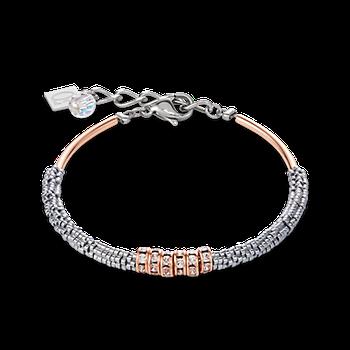 Bracelet Haematite & rhinestone crystal