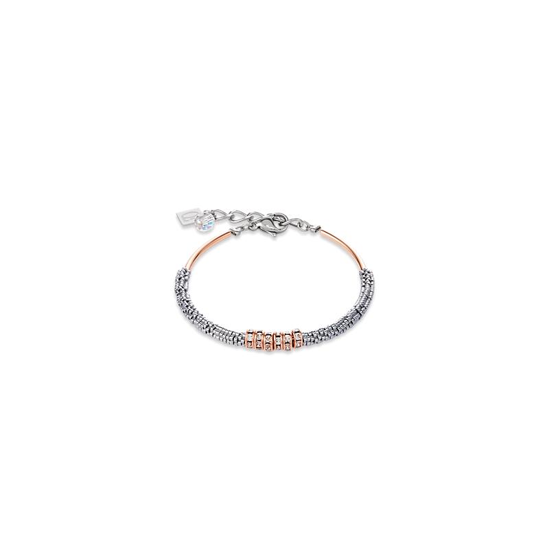 Coeur De Lion Bracelet Haematite & rhinestone crystal