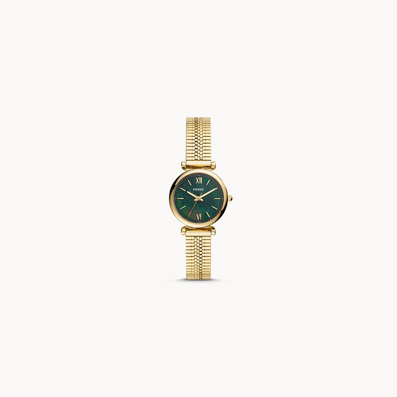 Fossil Ladies Gold/Green Metal WATCH