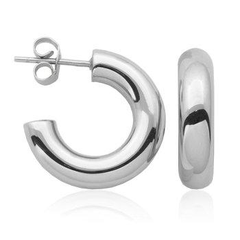 Silver Open Hoop Earring