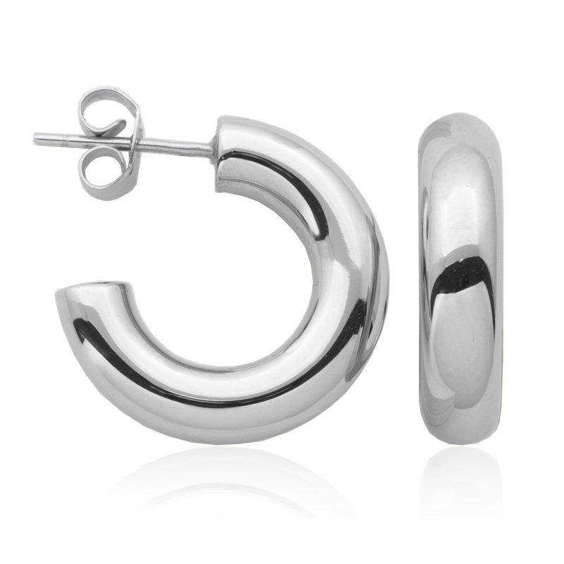 STEELX Silver Open Hoop Earring