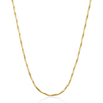GOLD TONE TWISTED CHAIN