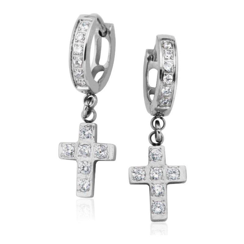 STEELX Crystal Cross Earrings