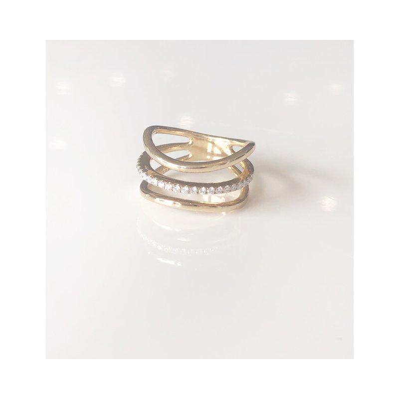 Zeghani Diamond Right Hand Ring