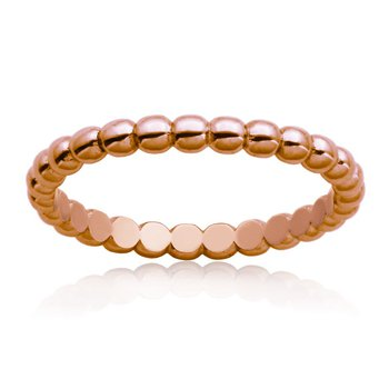Bead Ring Rose Gold Plated