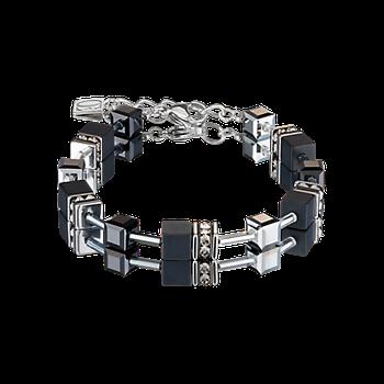 GeoCUBE® Bracelet onyx black-silver